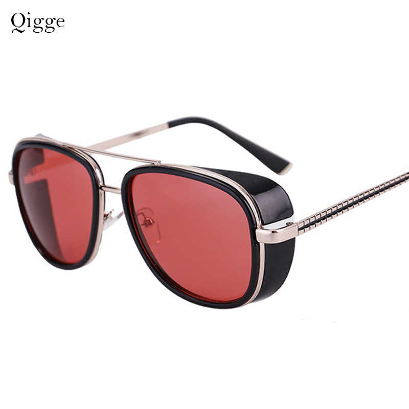 2019 New Fashion Round Frame SteamPunk Style Side Mesh Sunglasses Men Brand Designer Vintage Sun Glasses Punk Gafas De S