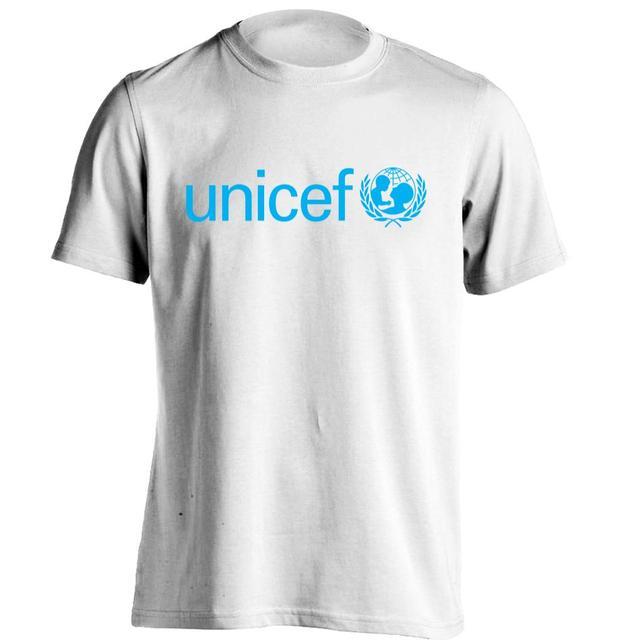 A unicef Sociedade Mundial Dos Homens   Das Mulheres Camisa Retro T Camisa  do Costume T 99f18594ac9c6