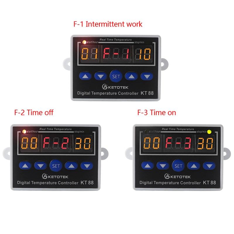 Digital Thermostat 12V 24V 110V 220V Temperature Controller Temperature Regulator Control Switch Relay Output 10A 220VAC