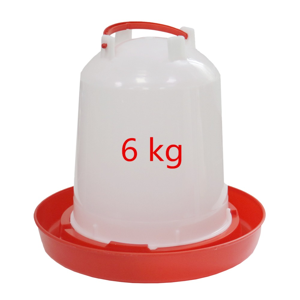 2 sets 6kg Raising chickens and ducks Bird equipment Waterer Poultry drinking cup Kettle Animals drink tool Wholesale and retail