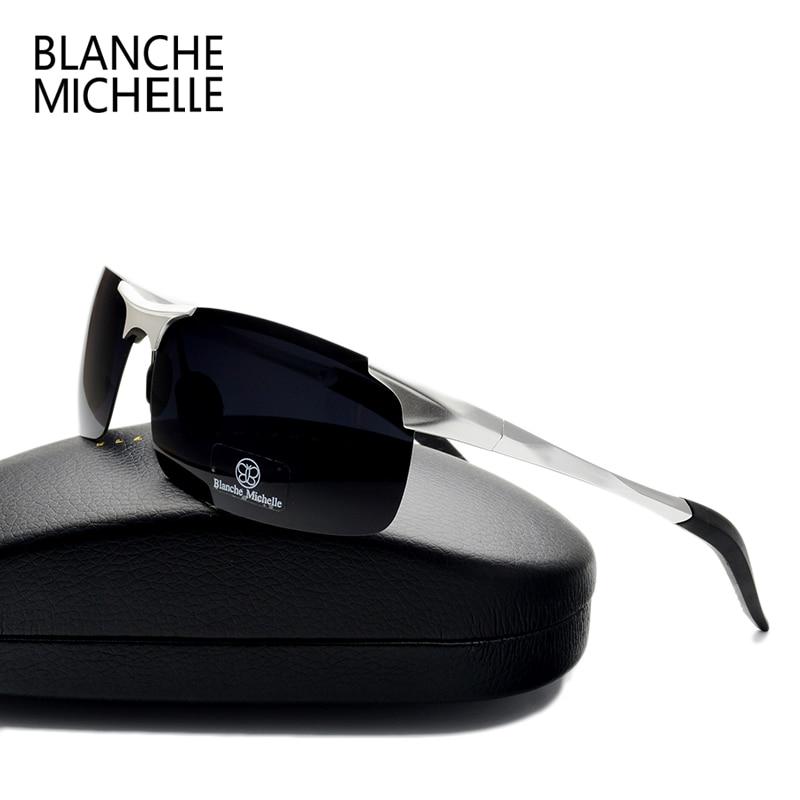 High Quality Ultra-light Aluminum Magnesium Sport Sunglasses Polarized Men UV400 Rectangle Gold Outdoor Driving Sun Glasses 2