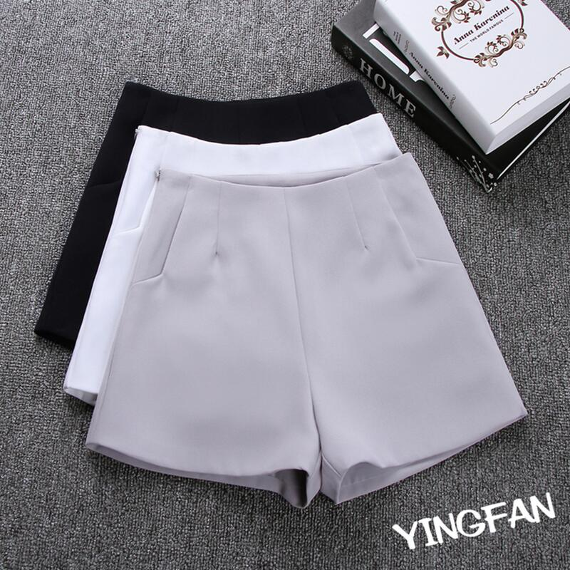 2018 New Summer Hot Fesyen New Wanita Seluar pendek Skirt High Waist Casual Suit Seluar pendek Black White Women Short Pants Ladies Shorts