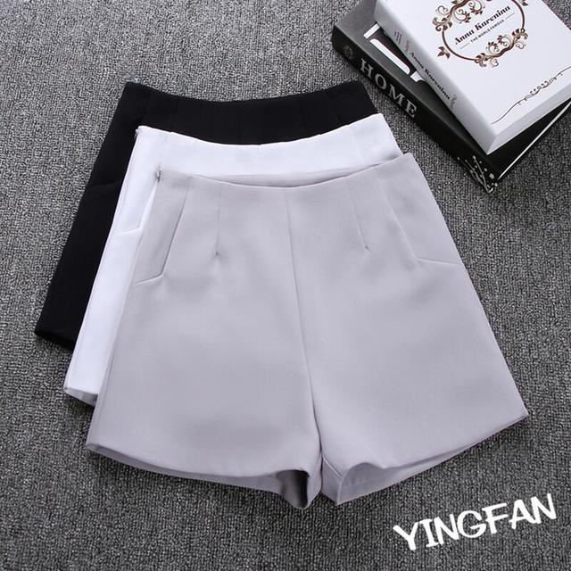 2018 New Summer hot Fashion New Women Shorts Skirts High Waist Casual Suit Shorts Black White Women Short Pants Ladies Shorts