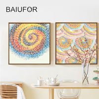 BAIUFOR Full Diamond Painting Embroidery with Diamond Mosaic Abstract Annual Ring Pictures of Rhinestones Cross stitch kits