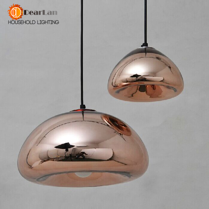 ФОТО New Arrival Fashional Glass Mirror Shades Dinning Lamp With Gold/Silver/Copper Colors For Selection,The Pendant Lights For Home