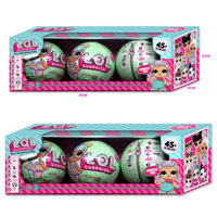 Pudcoco 4PCS 8Pcs LOL Lil Outrageous 7 Layers Surprise Ball Series Doll Blind Mystery Toys