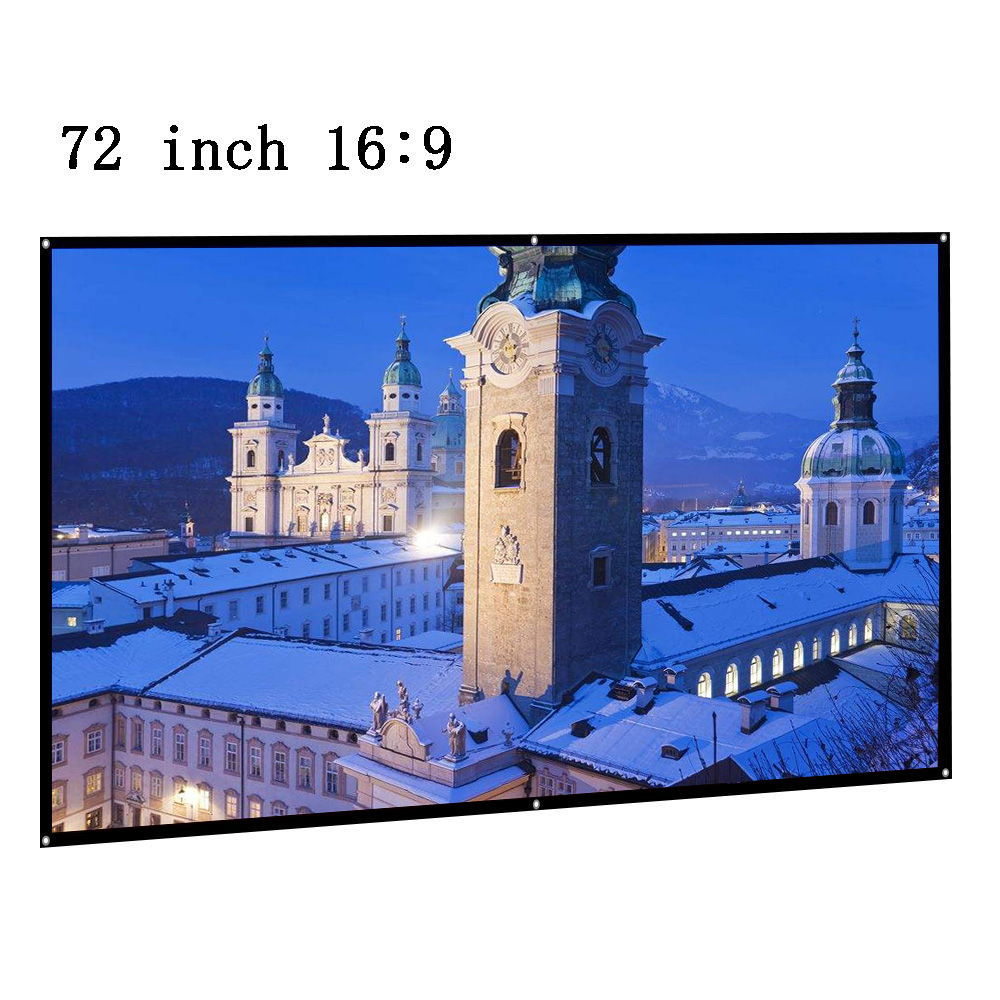 CAIWEI 72 inch Portable Screen for Projector 72 film rear Projection Screen 16:9 indoor Outdoor Movie display Screen Curtain ...