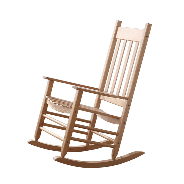 Schommelstoel hout natuurlijke kamer levenskunst meubels for Sedia a dondolo reclinabile