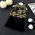 Девушки Одежда Набор Лето Chiffion Рубашку Армии С Черными Шортами Брюки Clohing Костюм Детей Детская Одежда Без Рукавов Наряд Наборы