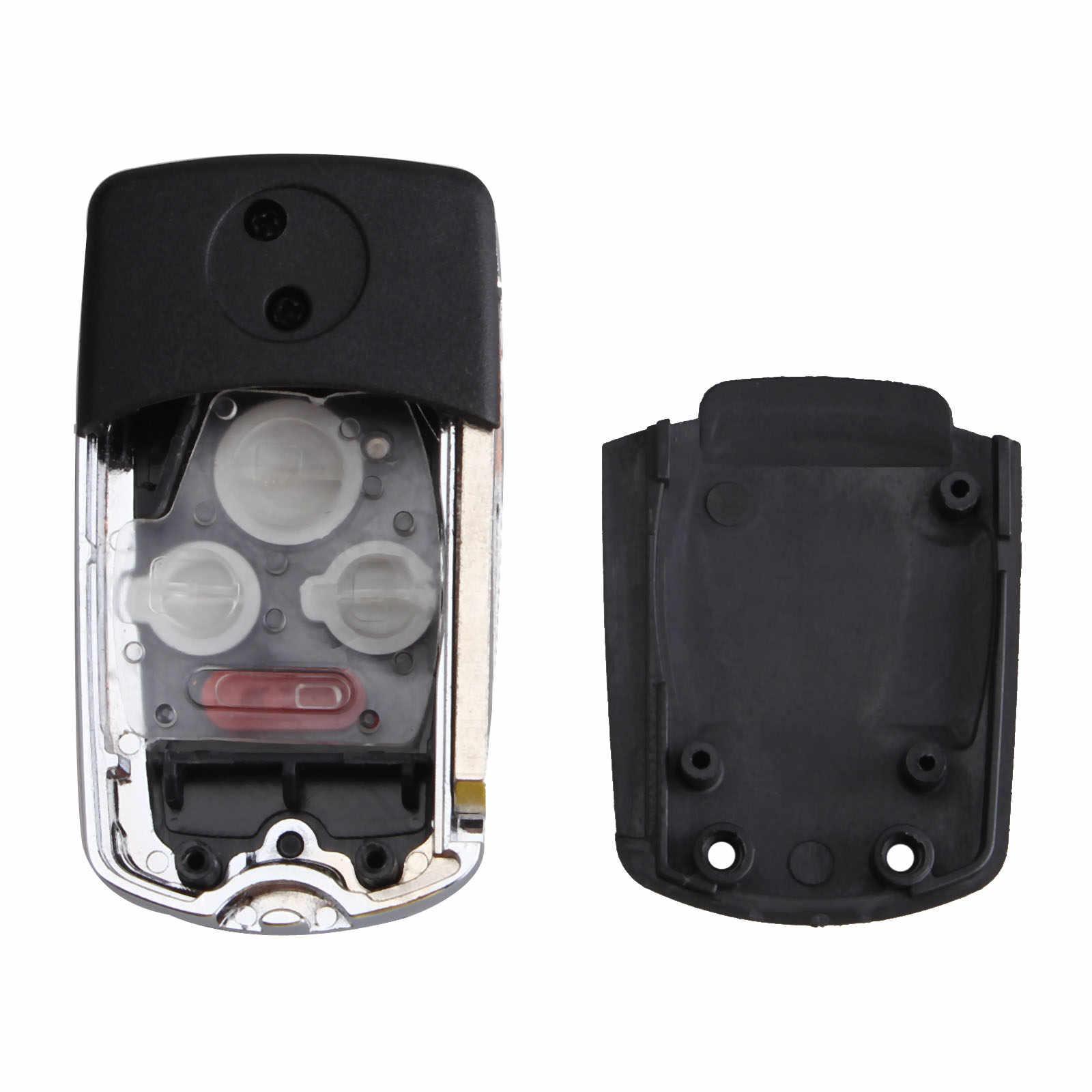 4 botões Aleta Modificada Dobrar Shell Remoto Chave Do Carro Caso Fob CR-V Entrada Fit Para Honda Accord Civic Fit Car -cobre