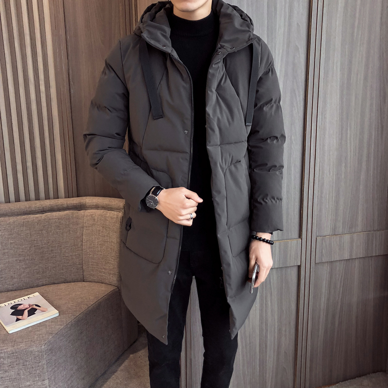 Fashion Winter Jacket Men Long Thick Warm   Parka   Coats Mens High quality Hooded jacket black Grey 5XL High Quality brand clothing