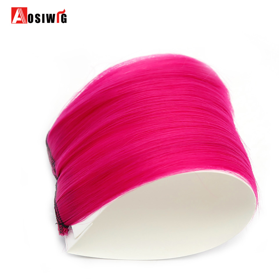 aosiwig short colored hair extensions