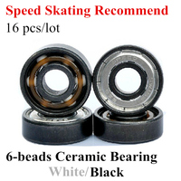Best Price 16 Pcs Inline Speed Skates Roller Patins White Ceramic 608 Bearing ILQ 9 ILQ