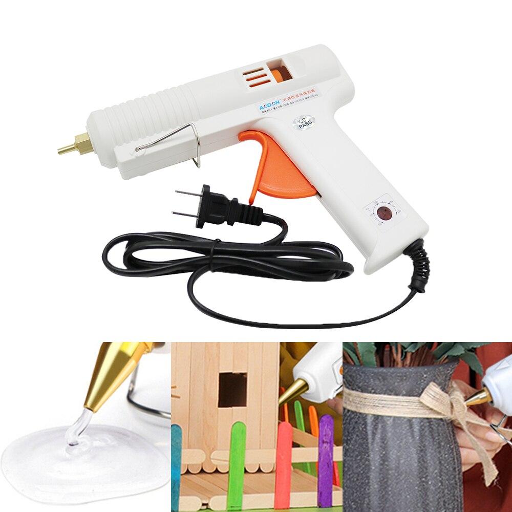 Processo de reparo quente da pistola de cola do derretimento ferramentas elétricas 11mm cola vara 120 w termostato ajustável aquecedor pistola cola