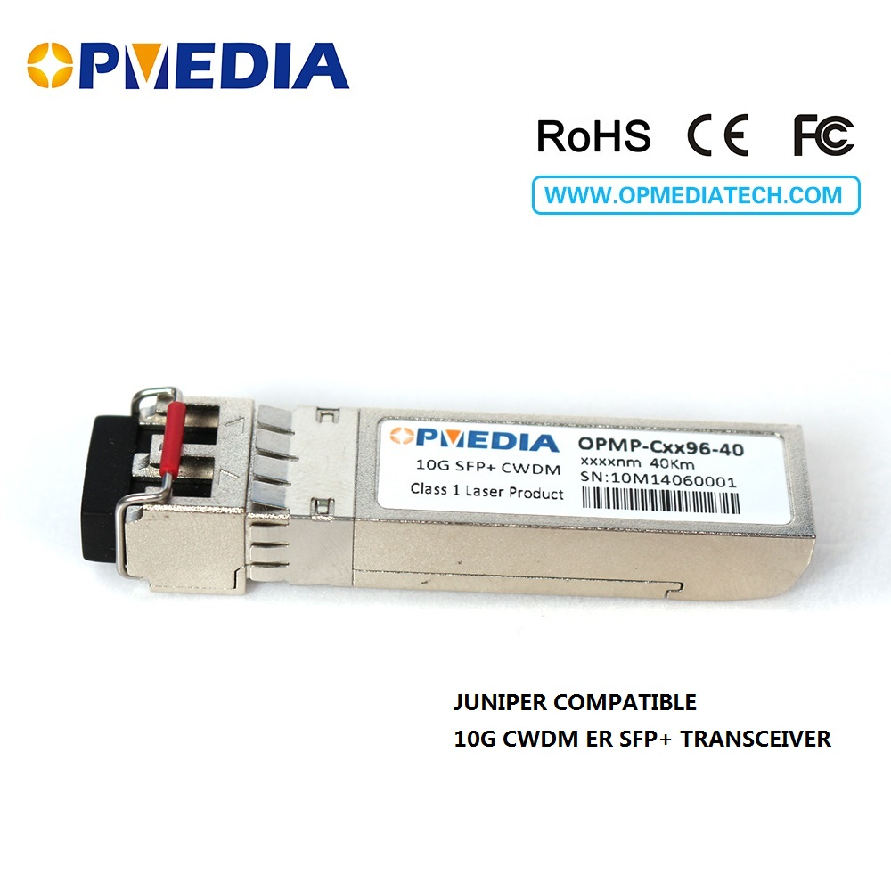 10GBASE CWDM SFP+ transceiver, 10G 40KM 1470~1610nm ER SFP+ optical module,LC connector,DDM,Compatible with Juniper equipments