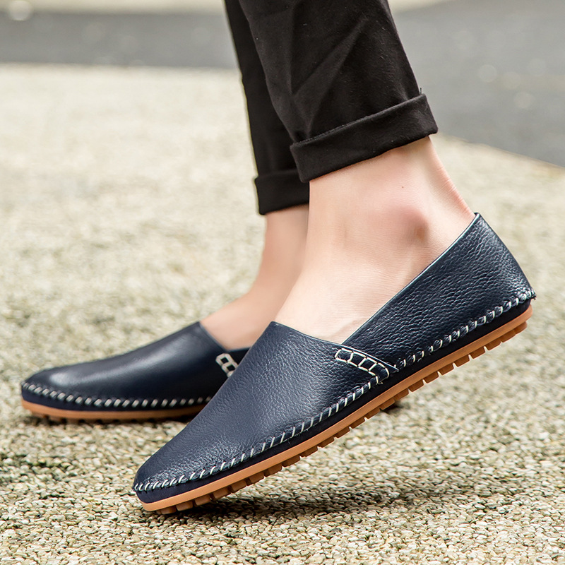 BACKCAMEL Men Casual Shoes Falt Walk Shoes Male Business Shoes Breathable Lightweight Slip on Peas Shoes High Quality Plus Size in Formal Shoes from Shoes