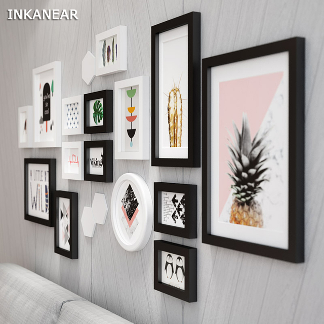Large Size Photo Frames Modern Pineapple Office/Store/Home Wall ...