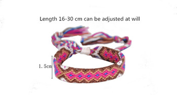 Bohemian Weave Cotton Charms Bracelet Girl Brazilian Weave Rope String Handmade Bracelets for Women Drop Shipping 5