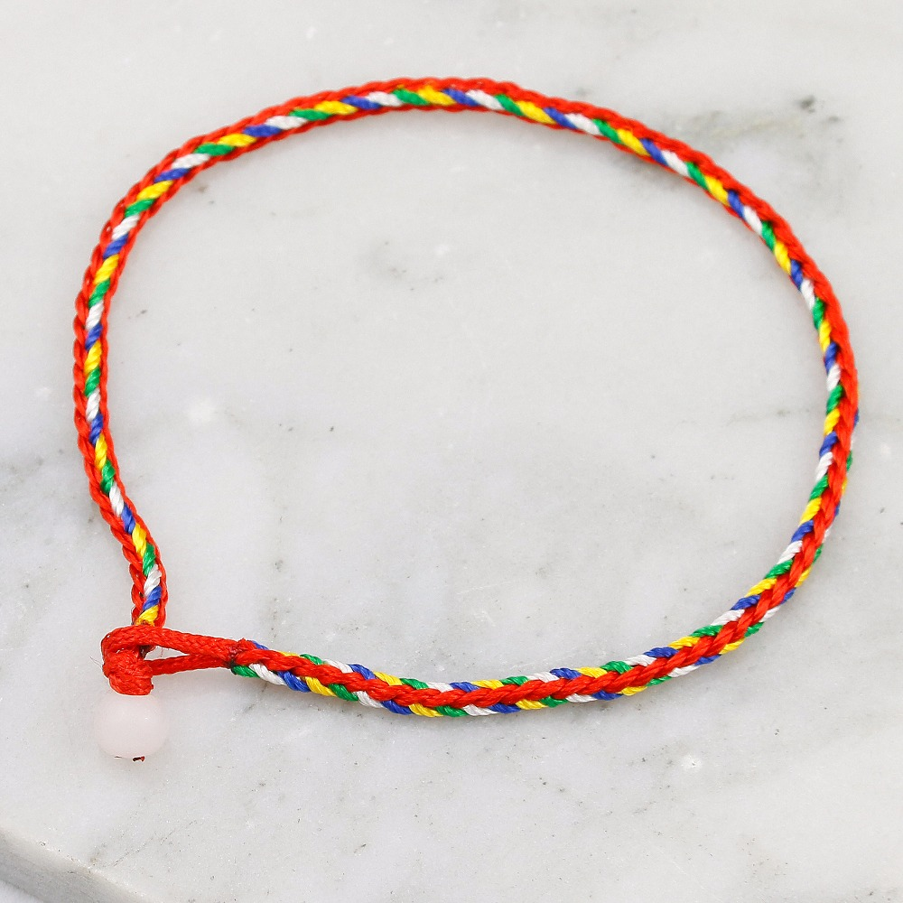 Handmade Braided Bracelet Ethnicl style Jewelry Red Thread String Rope Charm Bracelets for Women Woven Bracelet