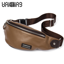 UniCalling chest bag genuine leather men casual stylish cross body sling fashion quality messenger
