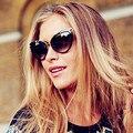 Мода Известный Бренд Дизайнер Солнцезащитные Очки Женщины Cat Eye Солнцезащитные Очки Леди Зеркало Мужчины Солнцезащитные Очки Металлическое Покрытие Очки UV400