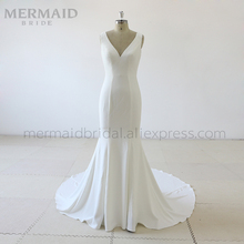 Mermaid Bride Simple korean crepe mermaid wedding dress