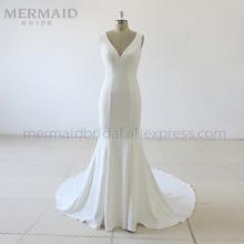Mermaid Bride Simple korean crepe mermaid wedding dress