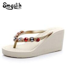 Woman Flip Flops Lady Fashion Casual Beach Flip-flops Home Slippers Women 2019 Summer Sexy High Heel Luxury Sandals