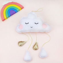 Nordic Decoration Home Cartoon Cloud Raindrops Wall Hanging Decorations Creative Shooting Props Kids Room Decoration Accessories(China)