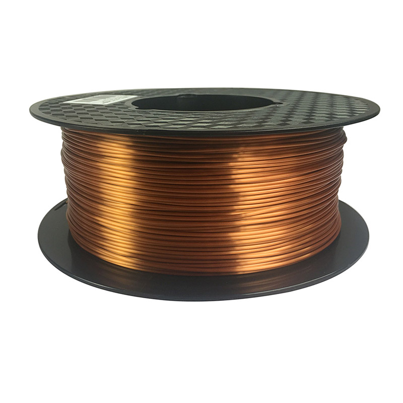 3d printer silky copper pla filament silk copper 1.75mm 1KG 3D printing material silk like feel PLA Metal like red copper knitting of silk filament and spun silk yarn