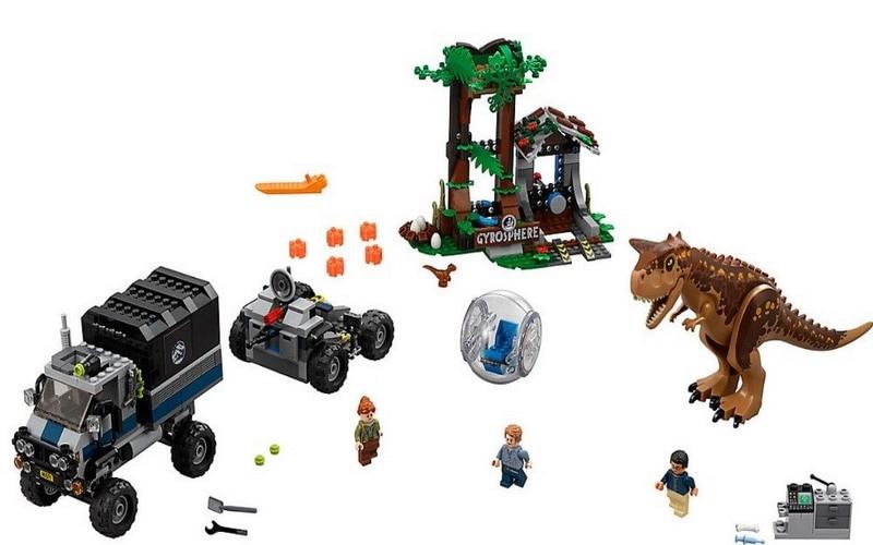 Jurassic World Park 2 Carnotaurus Gyrosphere Escape dinosaure camion Figure blocs noël cadeau construction jouets pour enfants