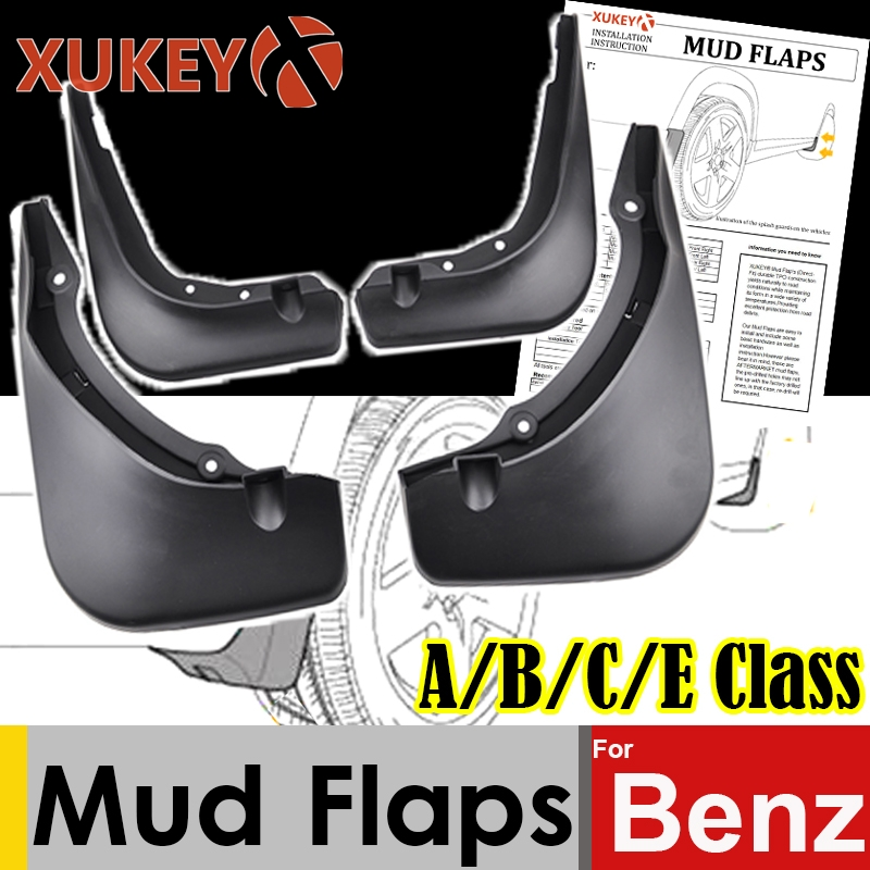 Xukey Mud Flaps For Mercedes Benz A-Class W176 B-class W245 W246 C-class W204 W205 E-class W212 Mudflaps Splash Guards Mudguards Mercedes-Benz A-класс