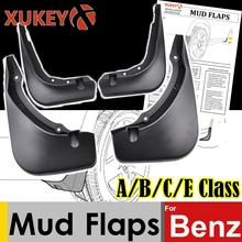 Xukey Mud Flaps For Mercedes Benz A Class W176 B class W245 W246 C class W204 W205 E class W212 Mudflaps Splash Guards Mudguards