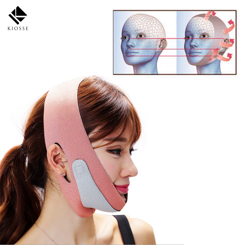 Face-Lift Maske Massage Abnehmen Gesicht Former Entspannung Gesichts Abnehmen Maske Face Lift Up Gürtel Schlaf Bandage Skin Care A237