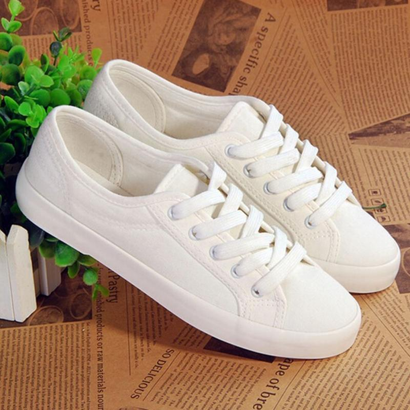 2018 Fashion Women Canvas Shoes Breathable Walking Sport Shoes Ladies Spring Autumn White Leisure Cloth Shoes Casual Sneakers 2018 fashion women canvas shoes low breathable women solid color flat shoes casual white leisure cloth shoes size 35 40 1068w