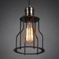 60 W Lampy Przemysłowe Krajem ameryki Retro Loft W Stylu Vintage Wisiorek Światła z Metalową Ramką Edison Żarówka, Lamparas