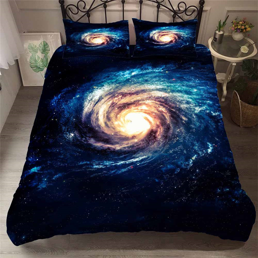 HELENGILI 3D Bedding Set Starry Sky Galaxy Print Duvet Cover Set Bedcloth with Pillowcase Bed Set Home Textiles #YH-64HELENGILI 3D Bedding Set Starry Sky Galaxy Print Duvet Cover Set Bedcloth with Pillowcase Bed Set Home Textiles #YH-64