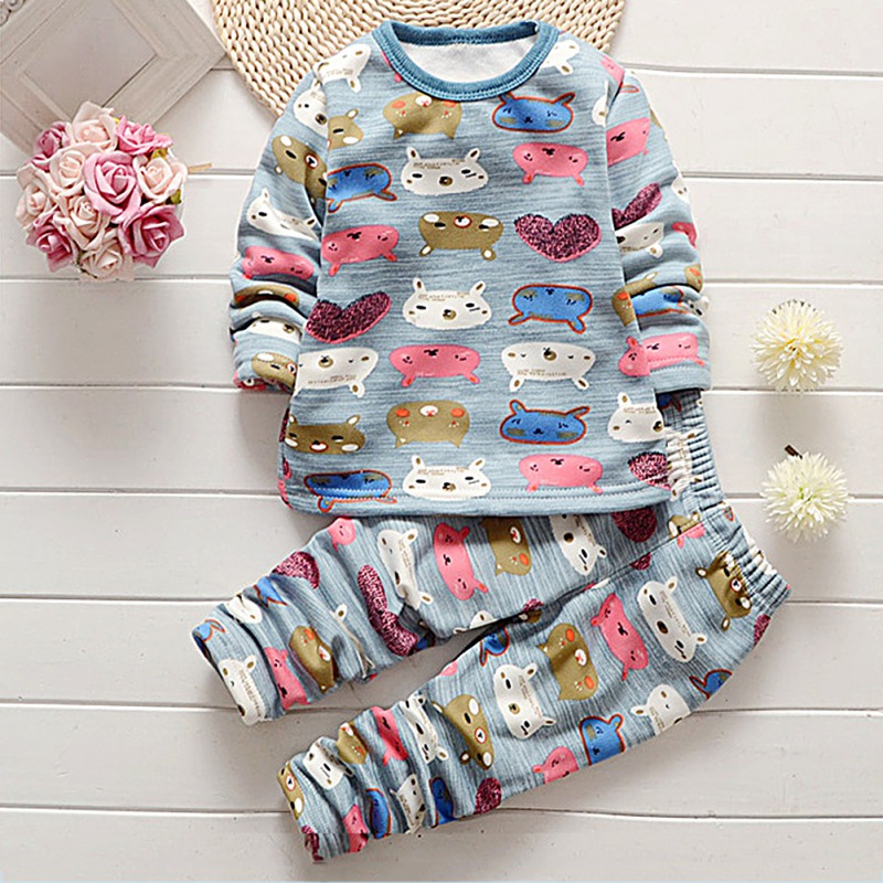 Baby Boy Clothing Suits Autumn Casual Baby Girl Clothes Sets Children Suit Sweatshirts+Sports pants Spring Kids Set 1-4Y M