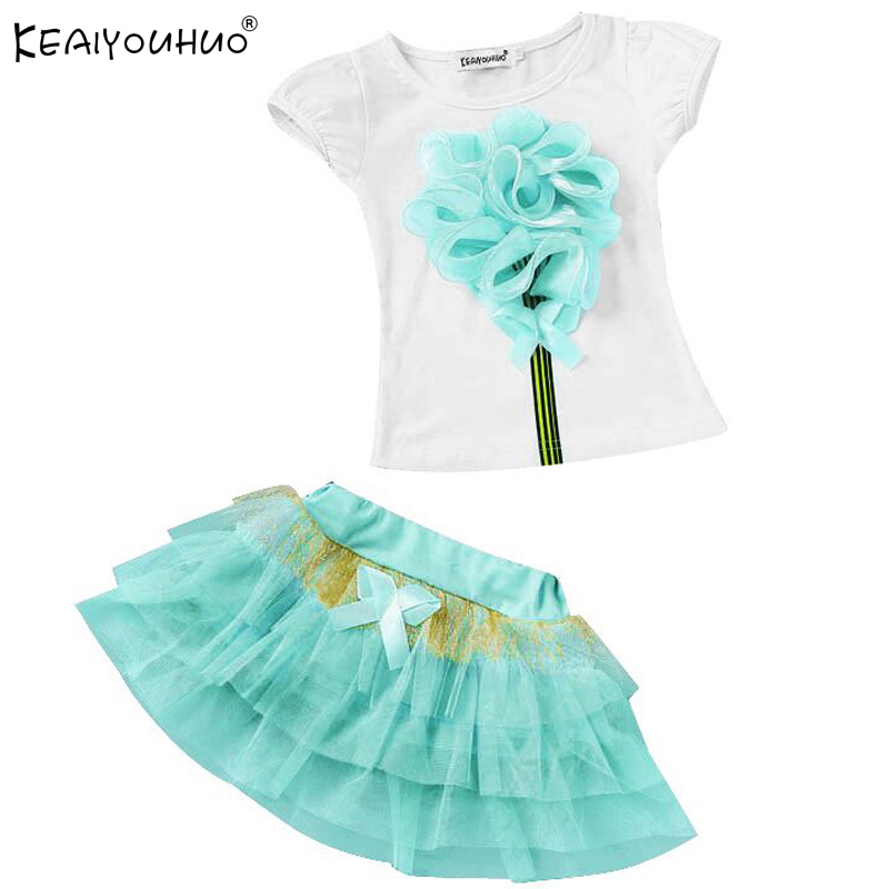 KEAIYOUHUO Children Clothing Sets 2017 Summer Girls Clothes Sets Sleeveless Skirt Cotton Sport Suits Christmas Costume For Kids keaiyouhuo 2017 autumn boys girls clothes sets batman sport suit children clothing girls sets costume for kids baby boy clothes