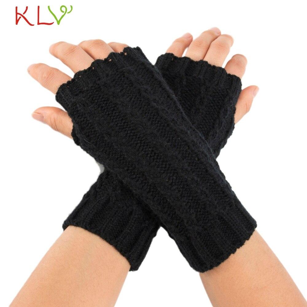 Armstulpen ZuverläSsig Arm Wärmer Frauen Männer Winter Feste Gestrickte Kurze Fingerlose Weibliche Handschuhe Fäustlinge Handschoenen 18oct30