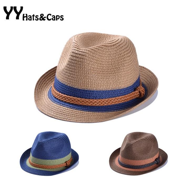 afdafde7706 Fashion Summer Casual Straw Fedoras Unisex Beach Trilby Large Brim Jazz Sun  Hat Panama Hat Paper Straw Women Men Cap YY0259