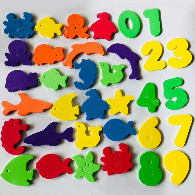Brinquedos de banho do bebê crianças macio eva letra número quebra-cabeça chuveiro água brinquedo para banheiro banheira praia sucção educacional acima do brinquedo de banho