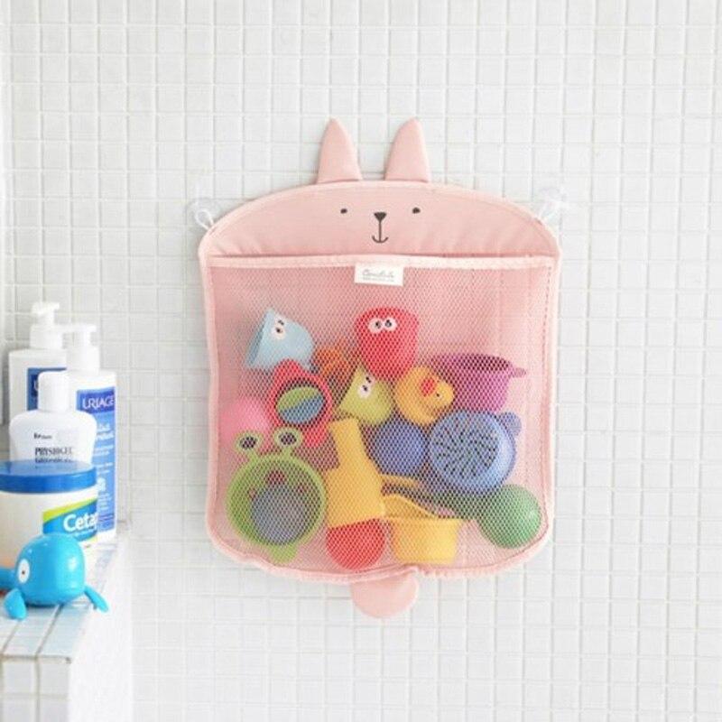Colorful Kawaii Cartoon Storage Bag Baby Bath Toys Kids Bathroom Wall Cute Hanging Bag Fun Classic Toys For Children Play Gifts
