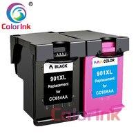hp officejet ColoInk 2Pack 901XL CC654AA CC656AA ink cartridge For HP 901XL Officejet 4500, J4524, J4540, J4550, J4580, J4624, J4680 printer (1)