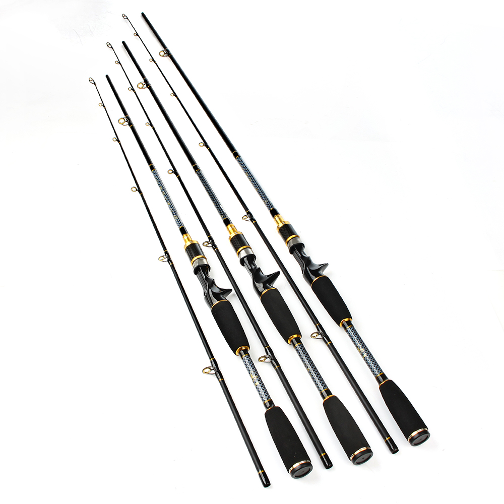 FISHKING Carbon 2 Section C.W 10-30G Soft Lure Fishing Rod 1.8M 2.1M 2.4M Baitcasting Fishing Rod