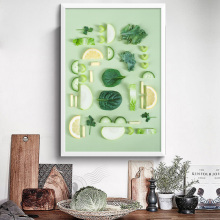 NOOG Modern Fruit Vegetables Posters and Prints on Canvas Wall Art Painting Cooking Food Pictures for Kitchen  Decor