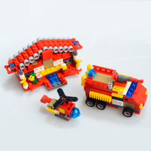 414pcs Fire Station Building Blocks