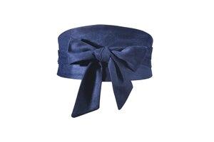 Image 5 - Корейский модный замшевый женский поясной ремень из плюшевой ткани 12,5 см Широкий самозавязывающийся ремень для юбки рубашки платья Женские однотонные ремни для корсета