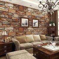 Beibehang סימולציה תלת ממדית מבולגנים אבן סלע טפט רקע ספת טלוויזיה בסלון חדר שינה טפט אבן תרבות