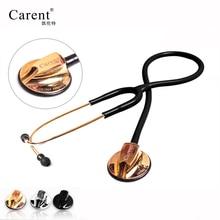 CARENT Профессиональный estetoscopio двойной медицинский Серебряный стетоскоп из нержавеющей стали для доктора медсестры плода сердечный ритм